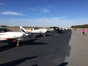 Line up of the planes that flew in toys
